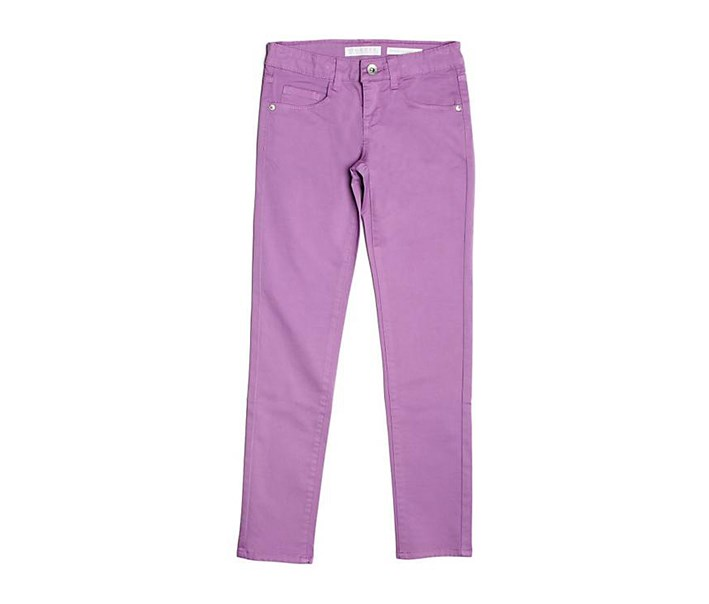 Girls Skinny Cotton Jeans, Purple