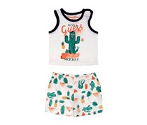 Guess Baby Boys 2 Piece Graphic Print Set, White Combo