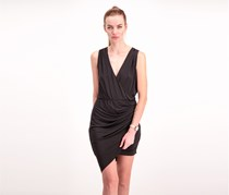 Guess Womens Asymmetrical Hem Dress, Black