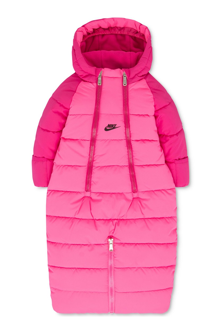 f4d89f50c4235 Shop Nike Nike Baby Girls' Hooded Convertible Puffer Snowsuit, Pink ...