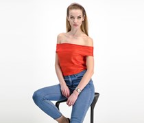 French Connection Off Shoulder Top, Tangerine