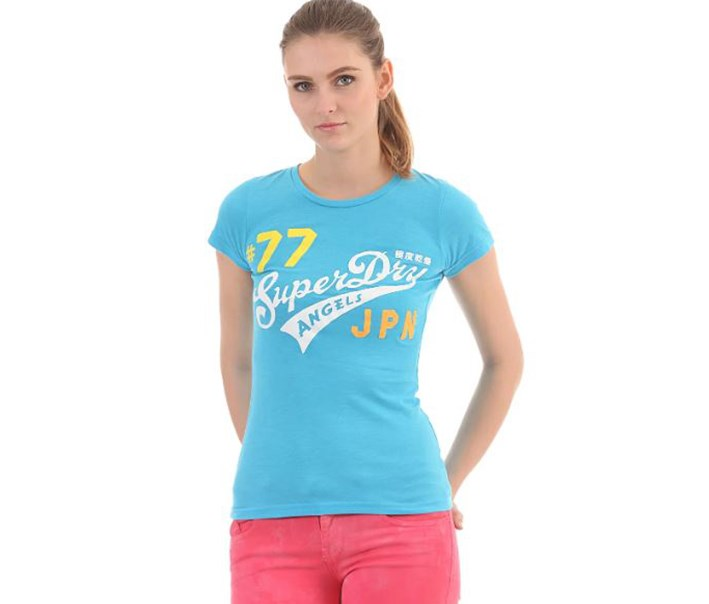 Angels Neon Lights Entry T-Shirt, Fluro Blue