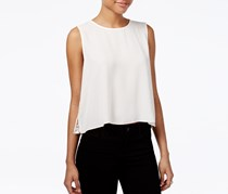 Rachel Roy Pleated Lace-Back Top, Natural