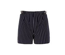 Guess High Waist Striped Shorts, Navy