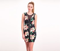 Guess Floral Print Dress, Black Combo
