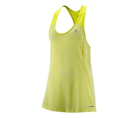Salomon Women's Elevate Tank Tunic, Lime Green