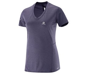 Salomon Women's Par kSS Solomon Women's T-shirt, Night Shade Gray