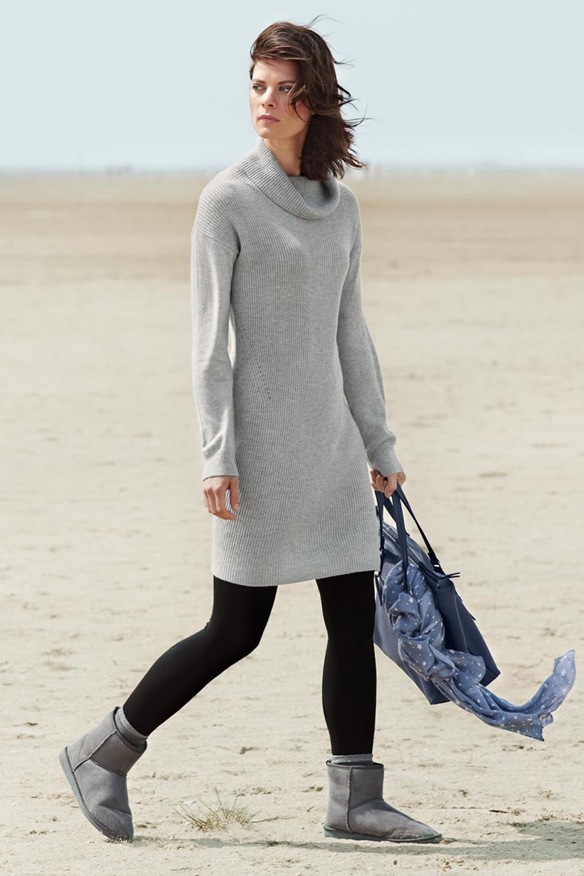 Women's Long Pullover, Grey
