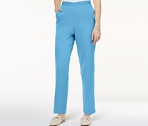 Alfred Dunner Petite Flat-Front Pull-On Pants, Blue