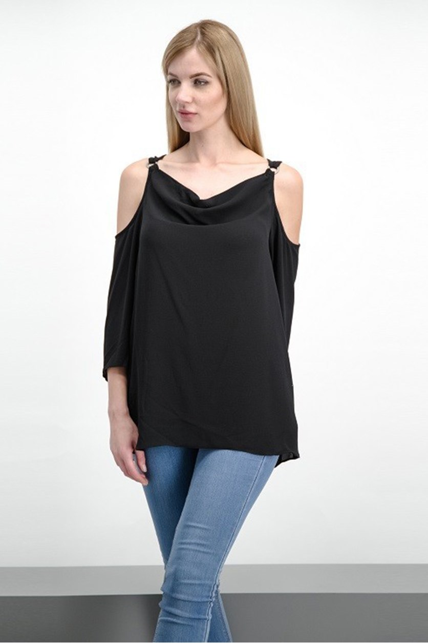 Women's Cold Shoulder Top, Black