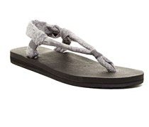 Sanuk Womens Yoga Slingshot Printed Sandal, Black/Grey