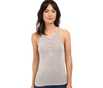 Project Social T Striped Henley Tank, Taupe