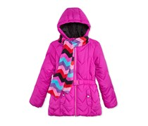 Kids Girls 2-Pc. Quilted Puffer Jacket, Rock Candy