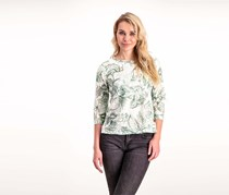 Alfred Dunner Women's Petite Floral Top, Sage