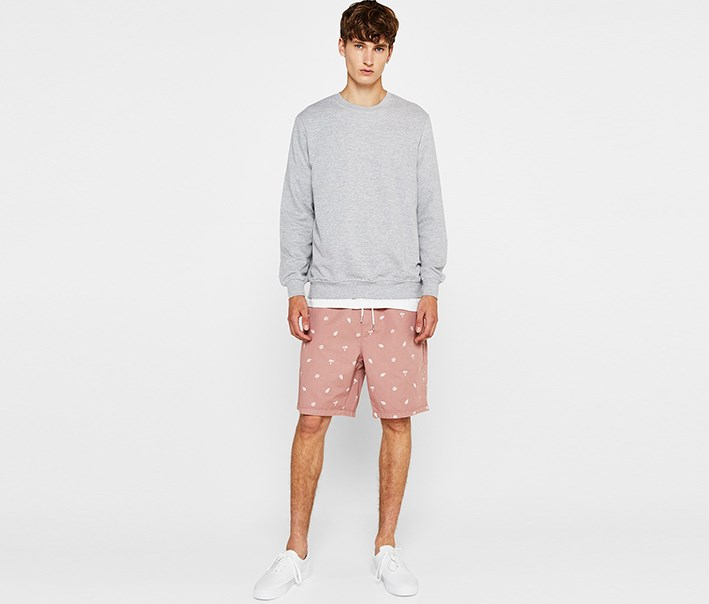 Men's Printed Short, Blush