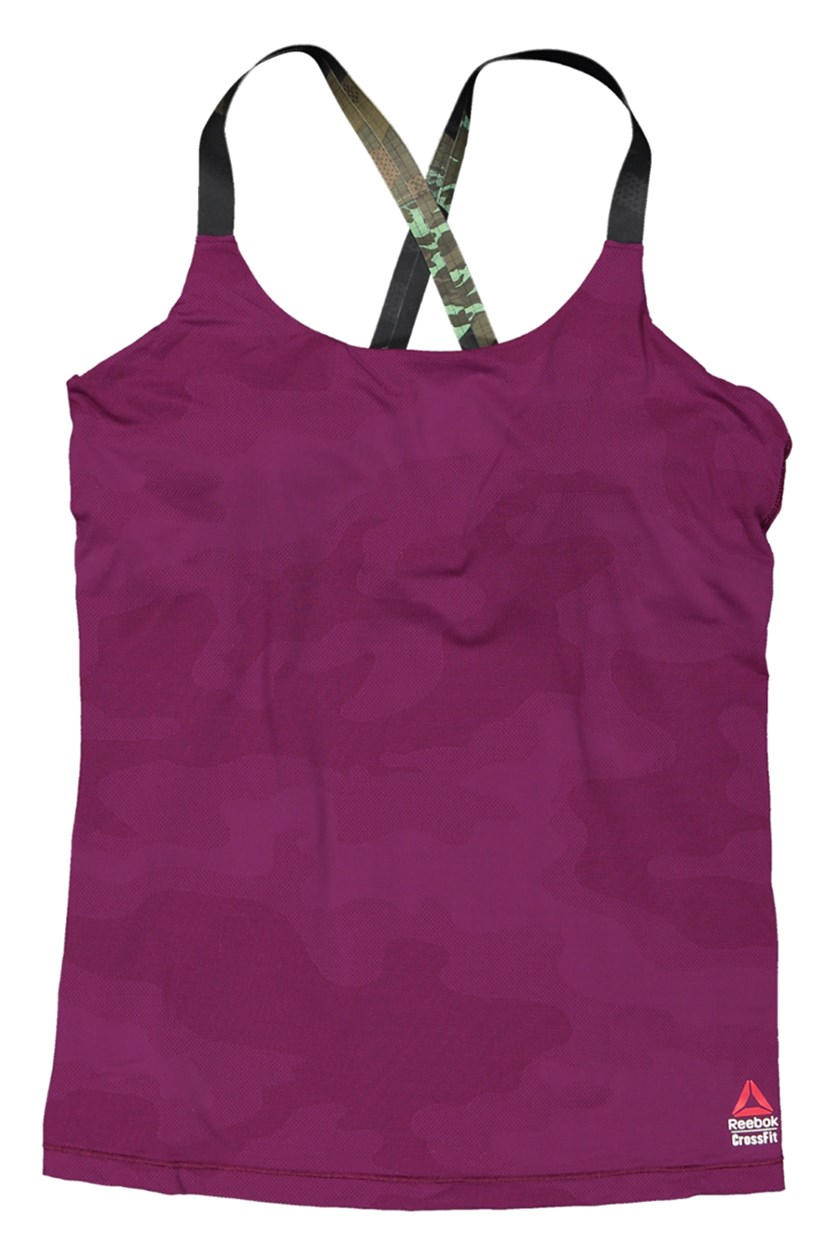 Women Tanktop Crossfit Paralette, Purple