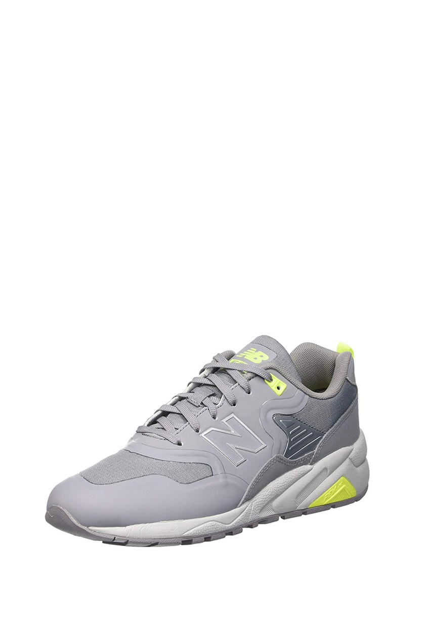 Mens 580 Re-Engineered Shoes, Grey/Green