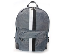 Tahari Unisex Zealous-Nylon with Vegan Leather Trim Backpack, Navy