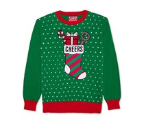 Hybrid Men's Cheers Holiday Sweater, Green