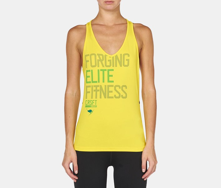 Women's Crossfit Train Tank Top, Yellow