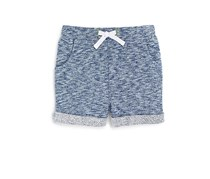 Toddlers  Boys' Melange Knit Shorts, Blue
