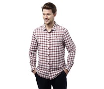 Craghoppers Men's Tristan Long Sleeve Shirt, Brick Red