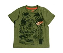 Guess Baby Boys' Short-Sleeve Graphic Tee, Olive