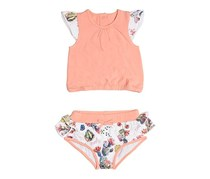Guess Baby Girls Printed Dress And Culotte Set, Peach