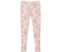 Epic Threads Girl's Geo-Print Pintuck Ponte Pants, Holiday Ivory