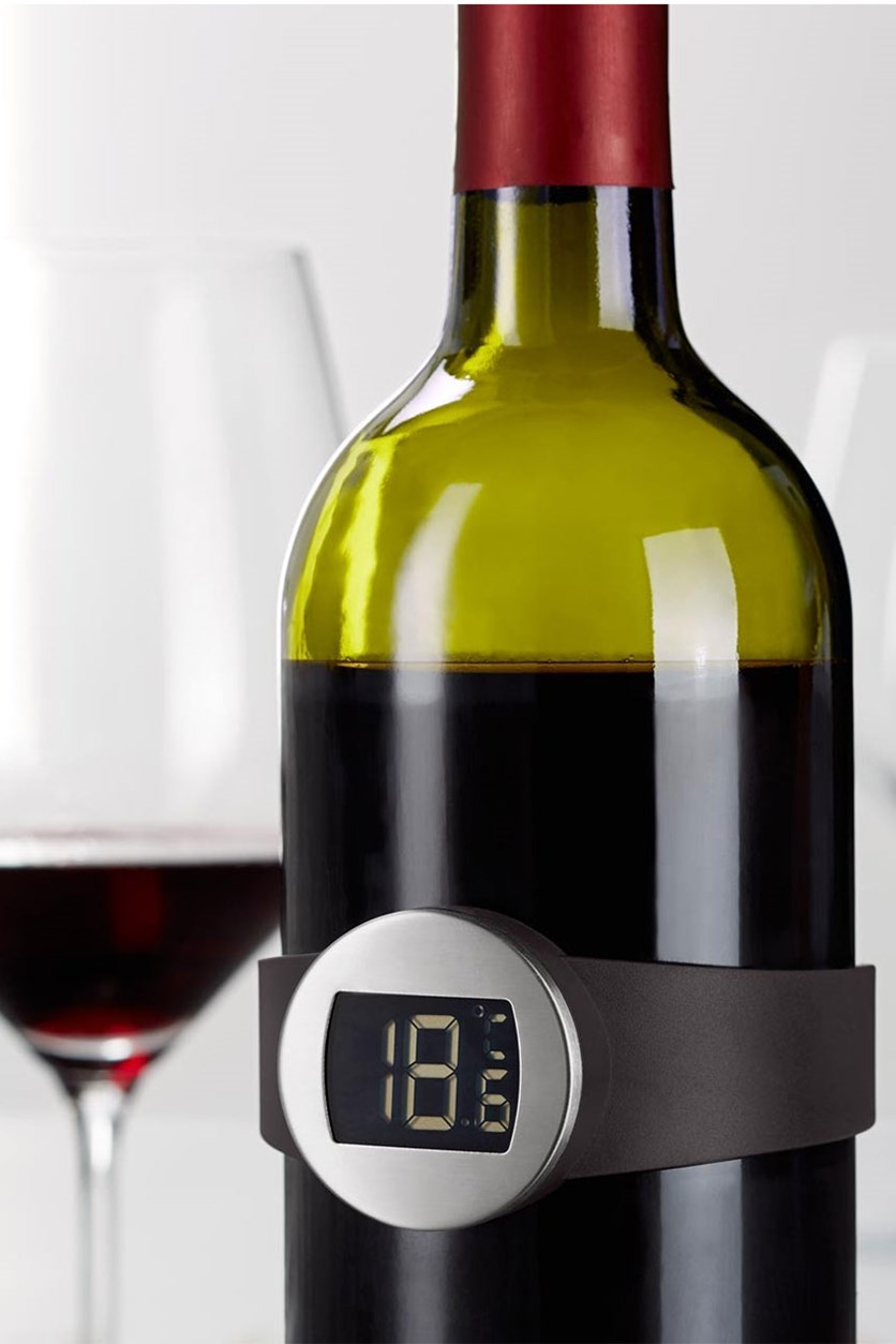 Wine Thermometer, Black/Silver