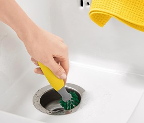 Universal Cleaning Brush, Yellow/Grey/Green