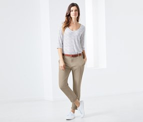 Women's Soft Shell Chino Pants, Beige