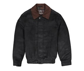 Weatherproof Garment Co. Men's Microsuede Filled Bomber Jacket, Fossil