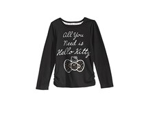 Hello Kitty Graphic-Print Shirt, Black