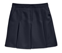 Nautica Girl's Uniform Pleated Scooter Skirt, Navy