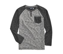 Univibe Raglan Henley, Heather Grey