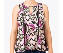 Guess Women's Floral Print Blouse, Pink Combo