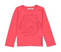 Boboli Toddlers Girls Applique Top, Fuchsia