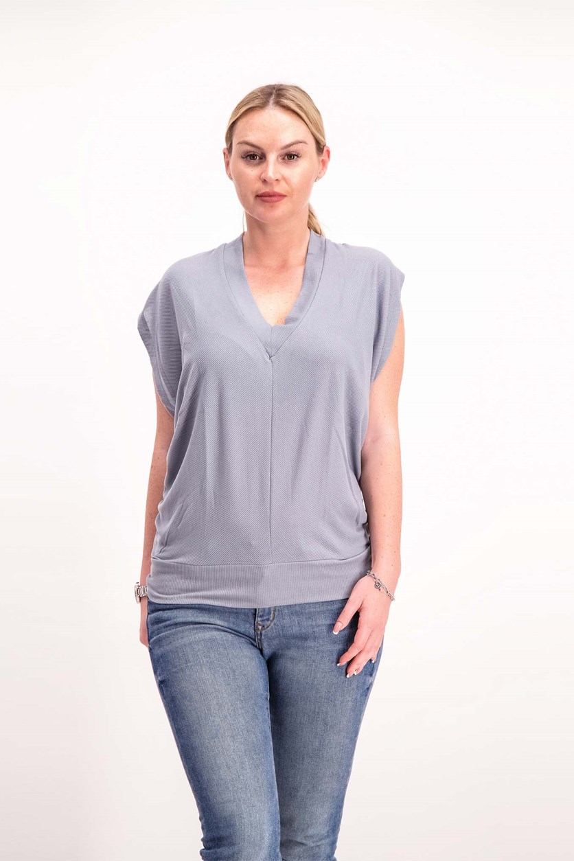 Women's Cut Out Knit Top, Trade Winds