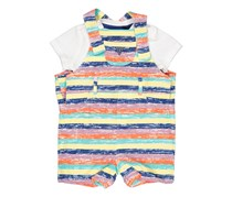Guess Toddler Girl's Romper, White Combo