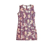 Guess Printed Crepe Dress, Purple Combo