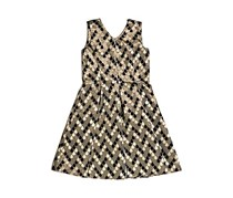 Fancy Jacquard Dress, Metallic Gold Combo