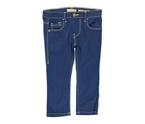 Toddlers Girls Five Pockets Pants, Navy Blue