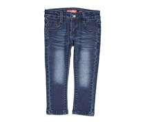 Toddlers Girls Five Pockets Jeans, Blue