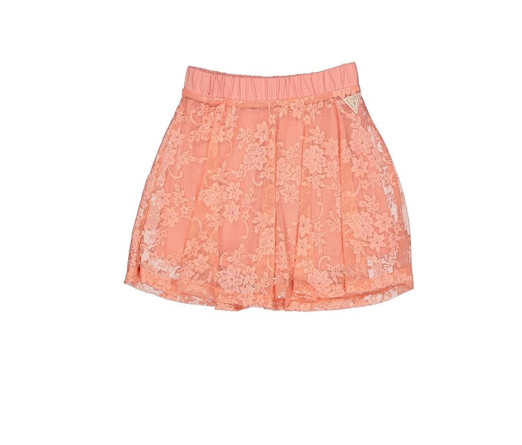 Toddlers Girls Lace Detail Skirt, Orange