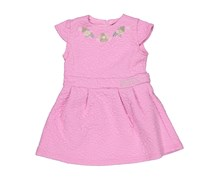Toddlers Embroidered Dress, Taffy Pink
