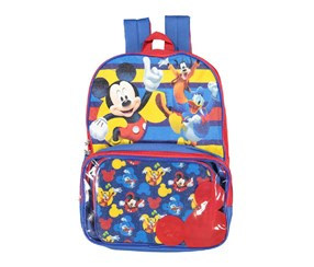 Disney Mickey Mouse School Bag, Blue/Red
