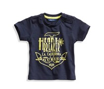 Guess Graphic Heartbreaker Tee, Navy