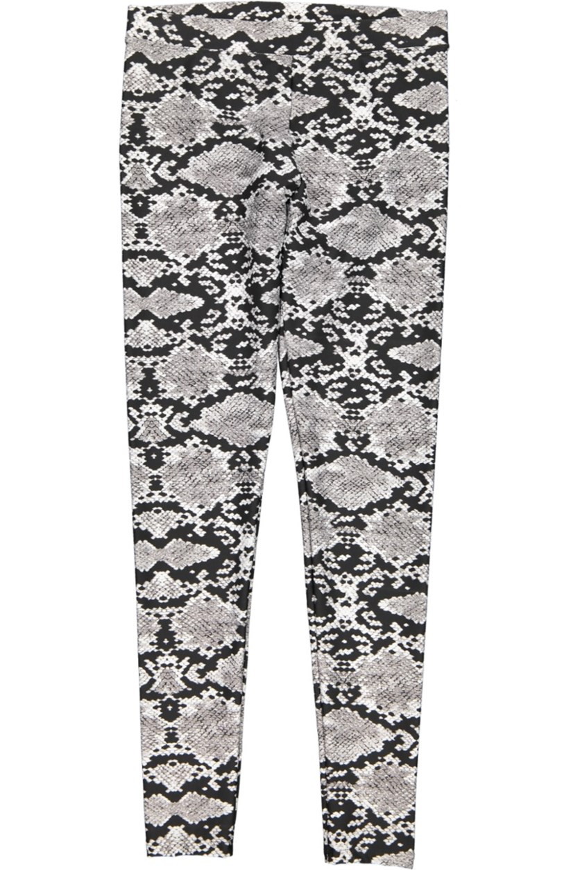 Animal Print Legging, Black/Grey
