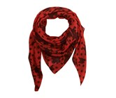 Guess Women's Floral Print Scarf, Cheche Red